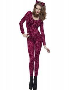 Catsuit roze luipaard