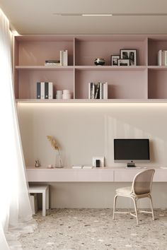 Image may contain: wall, indoor and interior Study Table Designs, Study Room Design, Room Design Bedroom, Small Room Bedroom, Home Room Design, Kids Room Design, Home Office Design, Home Office Decor, Home Interior Design