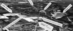 1958 – aerial view of South Miami Heights, Cutler Ridge, Perrine, in Dade County, Florida (close up) - Amazing Midcentury Photographs of Miami Page 2 of 2 Best of Web Shrine Miami Photos, South Miami, Aerial View, Florida, Mid Century, History, Amazing, Historia, Retro