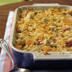 Hot Chicken and Chips Retro Recipe | MyRecipes.com Mobile