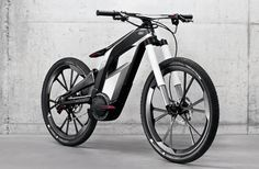 at the wörthersee tour in austria, AUDI unveiled its 'wörthersee' performance electric bike for sports and trick cycling.   designed incorporating technology from AUDI cars, with testing and feedback from competitive cyclist julien dupont.   the bicycle also offers smartphone connectivity for the recording of stunts, and optional automatic stabilization   when performing wheelies and other tricks.