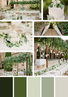 Trending colors for your 2017 wedding Choosing the right colors for your wedding day is a huge part of the overall style and theme that you are trying to create. Your wedding colors should reflect your personality, and the personality of your groom. Olive Green Weddings, Olive Wedding, Sage Green Wedding, Champagne Wedding Colors Scheme, Emerald Green Weddings, Ivory Wedding, Wedding Bride, Wedding Ceremony, Wedding Rings
