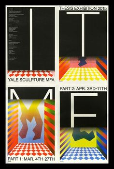 Exhibition graphics for the Yale Sculpture MFA Thesis Show, class of 2015