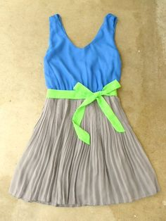 Clearwater Colorblock Dress in Royal