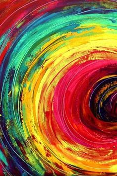 Swirled rainbow colors