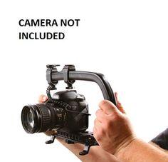 Pro Video Stabilizing Handle Grip for Canon PowerShot SX130 is Vertical Shoe Mount Stabilizer Handle