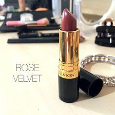 Revlon's super lustrous lipstick in 'Rose Velvet'  Perfect Fall colour!