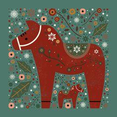Carly Watts Art & Illustration: Jolly Dala Horse