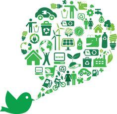 Tweet of Green Icons in EPS