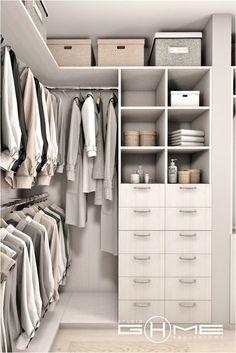 Small Walk In Wardrobe, Walk In Closet Design, Closet Designs, Small Walk In Closet Ideas, Small Walking Closet, Master Closet Design, Small Closets, Wardrobe Design Bedroom, Master Bedroom Closet