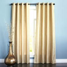 Soft and subtle shimmer grommet top clean and easy hanging and a faux linen finish. A magical panel if ever there was one. Oh did we mention it's machine-washable too? We're getting into miracle territory now. Gold Curtains, Grommet Curtains, Drapery, Living Room Decor Curtains, Bedroom Curtains, Living Room Accessories, French Country Living Room, Gold Bedroom, Master Bedroom