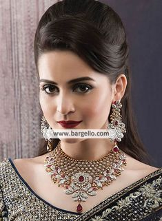 bridal sets & bridesmaid jewelry sets – a complete bridal look Bridesmaid Jewelry Sets, Bridal Jewelry Sets, Wedding Jewelry, Girls Jewelry, Rose Gold Jewelry, Gemstone Jewelry, Gold Jewellery Design, Designer Jewellery, Ruby Gemstone