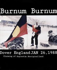 """England was once claimed by an Aboriginal man. Burnum Burnum. January 1988. 200 years since the first fleet arrived in so called Australia.  These where his words:  Transcript: """"The Burnum Burnum Declaration England, 26th January, 1988 I, Burnum Burnum, being a nobleman of ancient Australia do hereby take possession of England on behalf of the Aboriginal people. In claiming this colonial outpost, we wish no harm to you natives, but assure you that we are here to bring you good manners… Aboriginal Man, Aboriginal People, Dover England, First Fleet, Save The Planet, Manners, Colonial, Planets, January"""