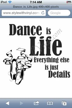 Dance is detail compared to God