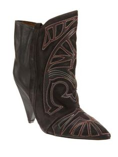 Isabel Marant Embroidered Ankle Boot