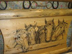 horse headboards for beds | Horse Bed #2 Headboard