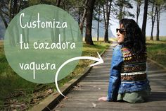 cafecondiy: Diy: customiza tu cazadora vaquera