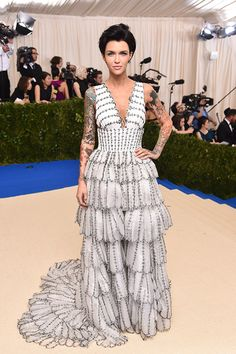 """Ruby Rose in Burberry attends the """"Rei Kawakubo/Comme des Garcons: Art Of The In-Between"""" Costume Institute Gala at Metropolitan Museum of Art. 