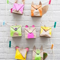 DIY Paper Bag Animal Favors  found on - www.realsimple.com