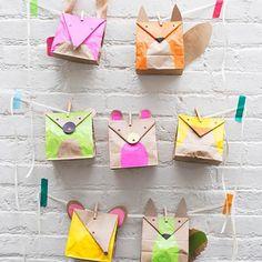 DIY Paper Bag Animal Favors  found on - www.realsimple.com