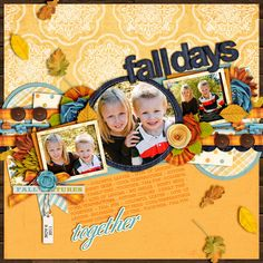 Beautiful layout with fall leaves