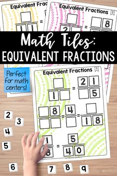 This set of math tiles activates critical thinking and problem-solving skills, all while building a solid understanding of fractions. Teaching Fractions, Math Fractions, Maths, Teaching Critical Thinking, Teaching Resources, Teaching Materials, Teaching Art, Teaching Ideas, Equivalent Fractions