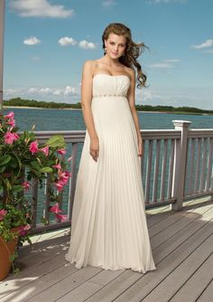 705c8823ca Empire Strapless Sweep Brush Train Chiffon Wedding Dresses For Brides Gowns