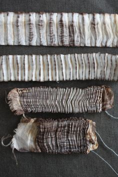 shiborilover:  shibori folding and stitching.  rhubarbinthegarden:  untitled by tinctory on Flickr.