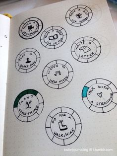 I found a blog on here a while back called @tinyadventureclub and have came up with a bullet journal section for my own tiny adventures.   The tiny adventures I came up with are actually from my 30-Day Healthy Challenge. If you'd like to get some inspiration from that challenge, you can click [here].   Basically, I color in a part of the circle every time I complete that adventure. It keeps me motivated and excited to go outside of my comfort zone.