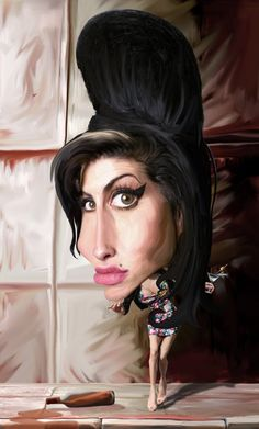 Amy Winehouse Caricature by Marcelo Reis Melo