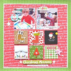 Bella Blvd Make It Merry collection. Christmas Morning layout by creative team member Jennifer Chapin.
