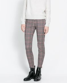 ZARA - WOMAN - HOUNDSTOOTH TROUSERS