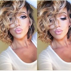 @marinarumppe we love your stunning voluminous curls, wing liner