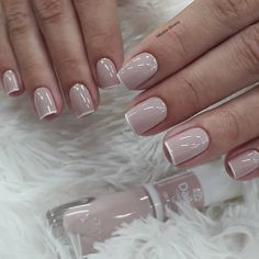 By: @ fabyane. Glam Nails, Classy Nails, Stylish Nails, Manicure And Pedicure, Beauty Nails, My Nails, Gorgeous Nails, Pretty Nails, Feet Nails
