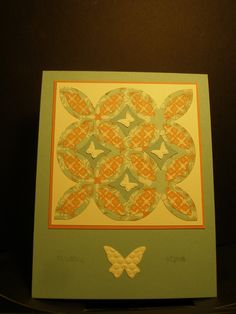 Lattice Die by Stampin'Up!  Quilt card for my cousin
