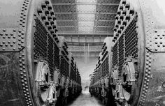 Titanic was equipped with 25 double-ended triple furnace boilers, and 4 single-ended ones.