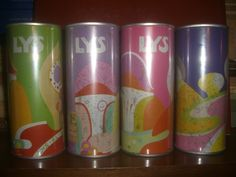 4 Lys ol straight steel beer cans set from Sweden
