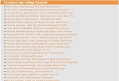 Master List of Facebook Marketing Links
