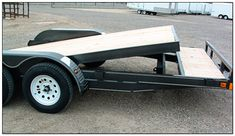 Tilt Trailer, Car Hauler Trailer, Atv Trailers, Trailer Diy, Trailer Plans, Trailer Build, Homemade Trailer, Welding Trailer, Golf Cart Accessories