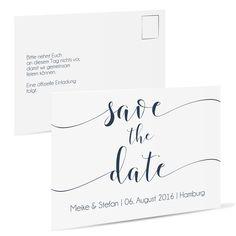 Save the date Schöne Schreibschrift