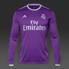 Real Madrid 2016/17 Away Men Long Sleeve Soccer Jersey Personalized Name and Number