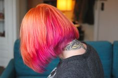 orange and pink hair- the dainty squid!