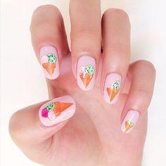 Ice cream nails アイスクリームネイル #icecream #icecreamnails #summernails #summerynails #summer2016 #gelnail #nailart #gelat #gelatonails #handdrawn #pinknails #アイスクリームネイル #アイスクリーム #ジェラートネイル #ピンクネイル #ジェルネイル #sweetsnails #スィーツネイル #girlishnails #girlish #cutenails #ガーリーネイル