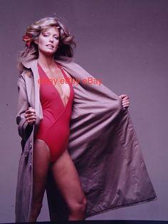 2 Farrah Fawcett 1977 Color Negative Los Angeles Magazine Photoshoot Swimsuit