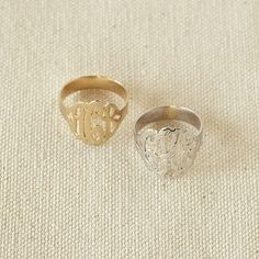 I love the Monogram Ring on pbteen.com (to match the earrings :))