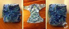 Handmade Sea Breeze Minky Birth to Potty Pocket Nappy
