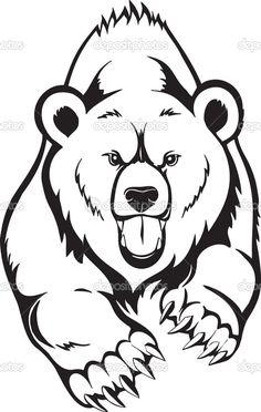 Bear Angry Face Tattoo photo - 1