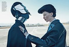 As seen in Vogue US September 2012 Photographed by Steven Klein Fashion editor Tonne Goodman Model Karen Elson Images Via Fashion Editorial Archive Karen Elson, Anti Fashion, Vogue Fashion, Space Fashion, Fashion Art, Fashion Story, Fashion Images, Cyberpunk, Editorial Photography