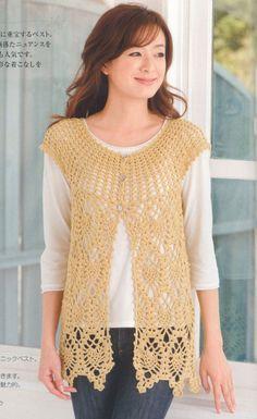 Pineapple crochet - https://www.etsy.com/listing/164875181/free-shipping-crochet-blouse-vest-pdf