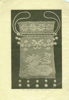 dragon filet crochet purse